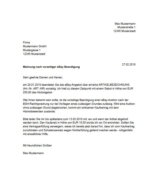 Zur Vorzeitigen Beendigung Einer Ebay Auktion Rechtsanwalt René Iven